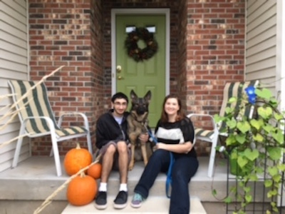 Grateful and Sharing New Home with Seeing Eye Dogs