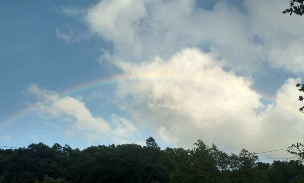rainbow over Burke Mortgage